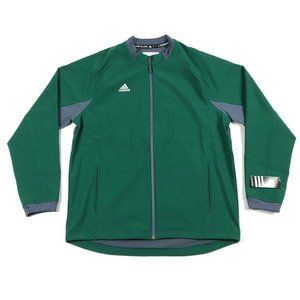 Adidas Dugout Warm Jacket Baseball Full Zip Green